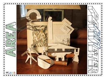 Area and Perimeter Math - Art Activities (Digital & Printa