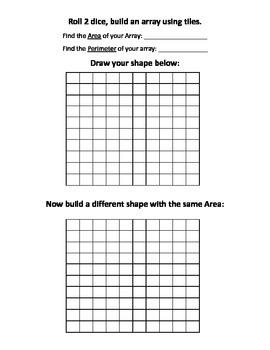 Area and Perimeter Math Center