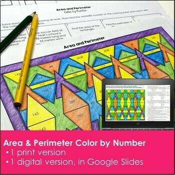 Area and Perimeter Math Center Resources