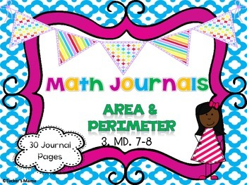 Area and Perimeter Math Journals
