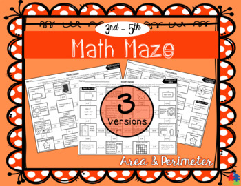 Area and Perimeter Math Maze
