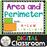 Area and Perimeter Math Practice Distance Learning Google