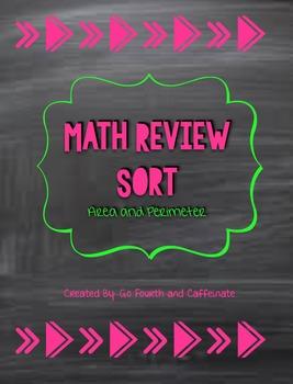 Area and Perimeter Math Sort