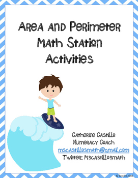 Area and Perimeter Math Stations Grade 3 Common Core Standards