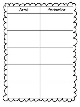 area and perimeter math word problem sort by gretchen tringali tpt. Black Bedroom Furniture Sets. Home Design Ideas