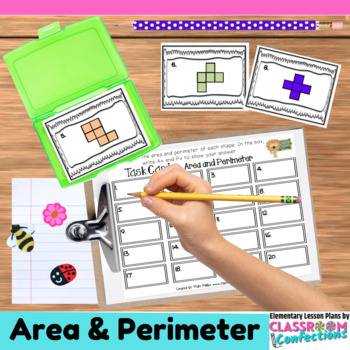 4th Grade Math: Area and Perimeter Task Cards