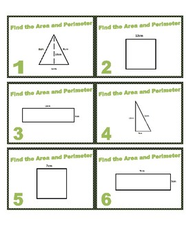 Area and Perimeter (Metric)