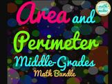 Area and Perimeter Middle-Grades Bundle (30+ pages of resources)