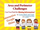 Area and Perimeter Missing Information Challenges: Digital Interactive 3.MD.D.8