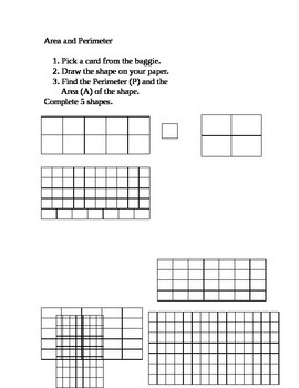 Area and Perimeter (Mixed) Center