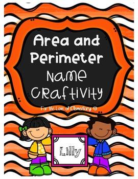 Area and Perimeter Name Craftivity