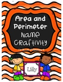 Area and Perimeter Name Craftivity