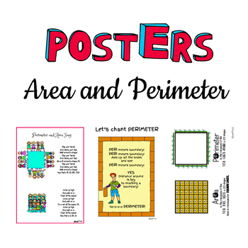 Area and Perimeter POSTERS, ANCHOR charts, Song and Chants!