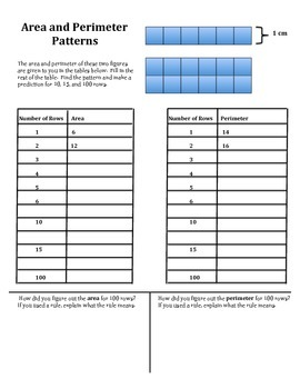 Area and Perimeter Patterns