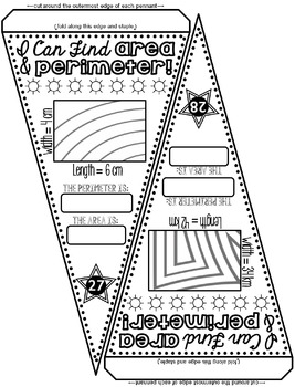 Area and Perimeter Pennant
