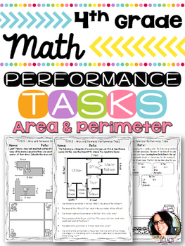 Math Printables Area and Perimeter Performance Tasks COMMON CORE ALIGNED 4.MD.3