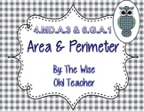 Area and Perimeter PowerPoint Presentation 4.MD.A.3 & 6.G.A.1