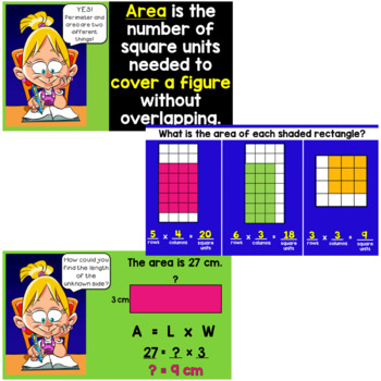 Area and Perimeter PowerPoint (with a matching handout!)