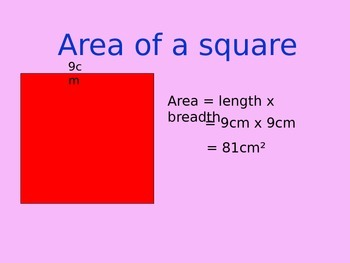 Area and Perimeter Powerpoint Presentation