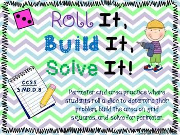 Area and Perimeter Practice: Roll It, Build It, Solve It!