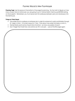 Area and Perimeter Problem Solving Task