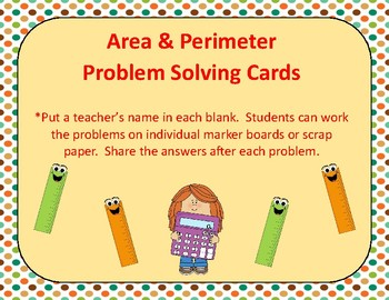 Area and Perimeter Problem Solving Cards