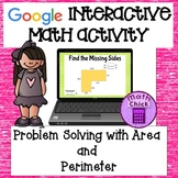 Area and Perimeter Problem Solving Google Classroom Activity TEKS 5.4H