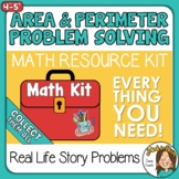 Area and Perimeter Problem Solving Math Kit plus Digital Options