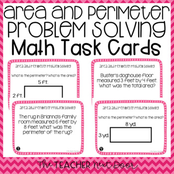 Area and Perimeter Problem Solving Task Cards | Area and Perimeter Center
