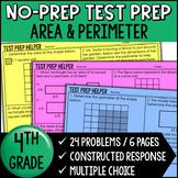 Area and Perimeter Problems {4th Grade Common Core Test Prep Helper}