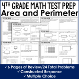 Area and Perimeter - 4th Grade Test Prep (No Prep)