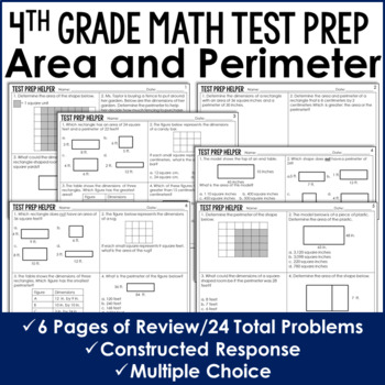 Area and Perimeter Problems {4th Grade Common Core Test Pr