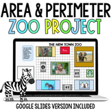 Project Based Learning Area & Perimeter Zoo Digital and Printable | Google Slide