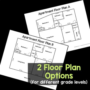 Area And Perimeter Project Floor Plan By Rise Over Run Tpt