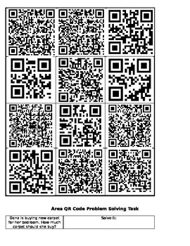 Area and Perimeter QR Codes Activities and Tasks