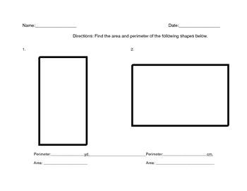 Area And Perimeter Quadrilateral Worksheet By Nicole Derosa Tpt