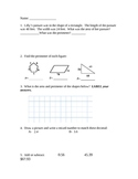 Area and Perimeter Quiz and Mixed Review