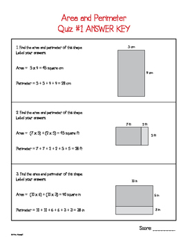 Area and Perimeter Quizzes