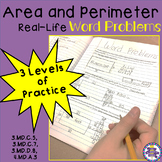 Area and Perimeter Real-Life Word Problems - 3 Levels