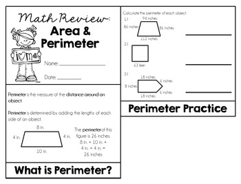 Area and Perimeter Review (Flipbook)