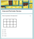 Area and Perimeter Review- Google Form Remote learning resource