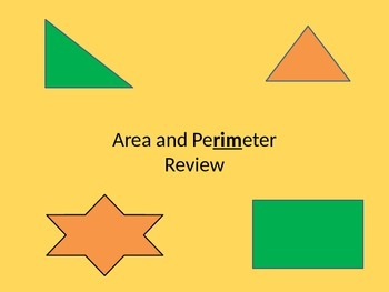Area and Perimeter Review for 4th Grade