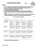 Area and Perimeter Robots: An engaging Common Core project, 3.MD.D.8, 3.MD.D.8