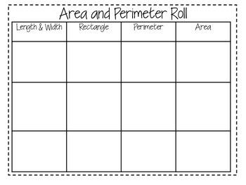 Area and Perimeter Roll  FREEBIE