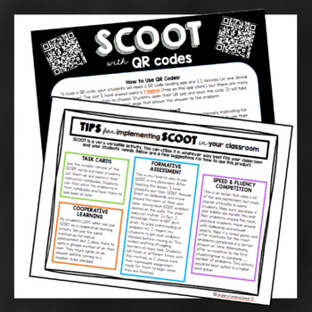 Area & Perimeter SCOOT (Fractions & Decimals) - with & without QR Codes!