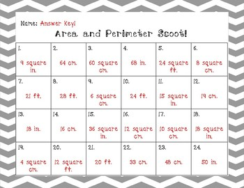 Area and Perimeter Scoot