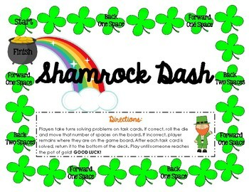 Area and Perimeter Shamrock Review Game