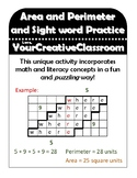 Area and Perimeter - Sight Word Practice Activity
