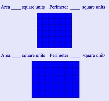 Area and Perimeter Smartboard Math Lesson