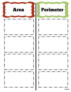 Area and Perimeter Sort